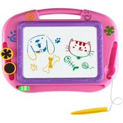 Coolmade Drawing Doodle Board Gifts Toys Age for 1 2 3 4 Year Old Girl,Magnetic Drawing Board Erasable Writing Sketch Pad Birthday Present for Toddler Kids Toy for Little Girls Travel Games