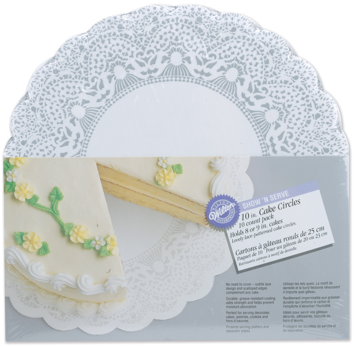 "Wilton Show 'N Serve"" 10"" Cake Boards, Circle 10 ct. 2104-1168"