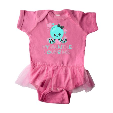 My Auntie Loves Me- cute octopus and hearts Infant Tutu Bodysuit