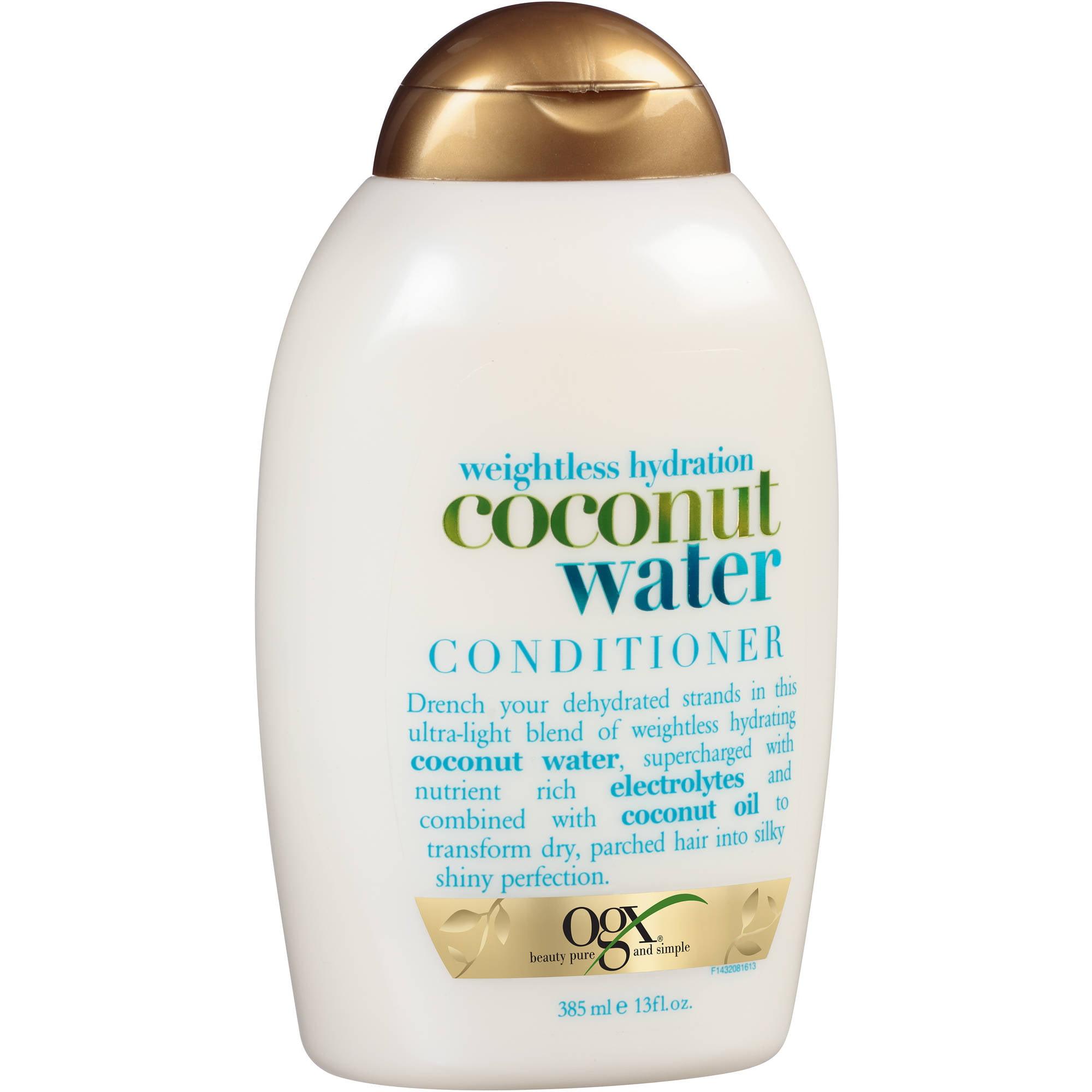 OGX Weightless Hydration Coconut Water Conditioner, 13 fl oz