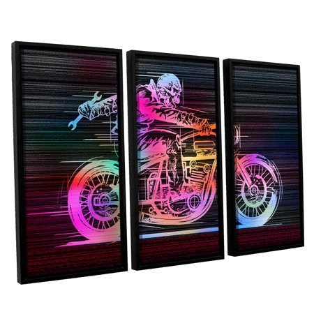 Moto Iv Gallery Wrapped Floater Framed Canvas Art Print