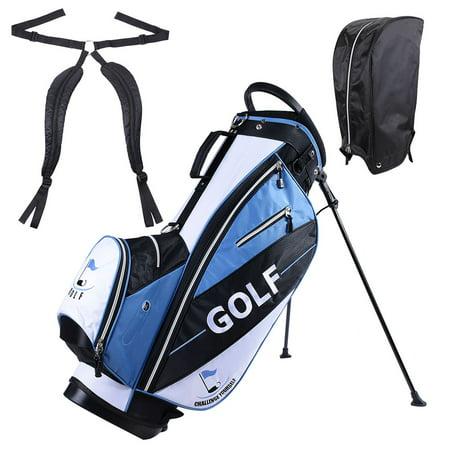 Men's Golf Club Bag 15x11x35' 600D Golf Carry Bag w/ 7 Pockets For Male Adult Golf Accessory
