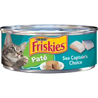 Friskies Pate Wet Cat Food, Sea Captain's Choice, 5.5 oz. Can