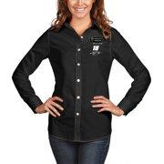 Kyle Busch Antigua Women's 2019 Monster Energy NASCAR Cup Series Champion Dynasty Long Sleeve Button-Up Shirt - Black