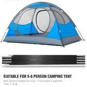 Awning Rod,HURRISE 4.48M Fiberglass Camping Tent Pole Bars Outdoor Support Rods Awning Frames Kit