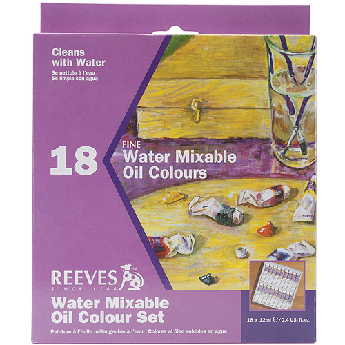 Reeves 130220 Reeves Water Mixable Oil Color Set 18ml 18-Pkg-