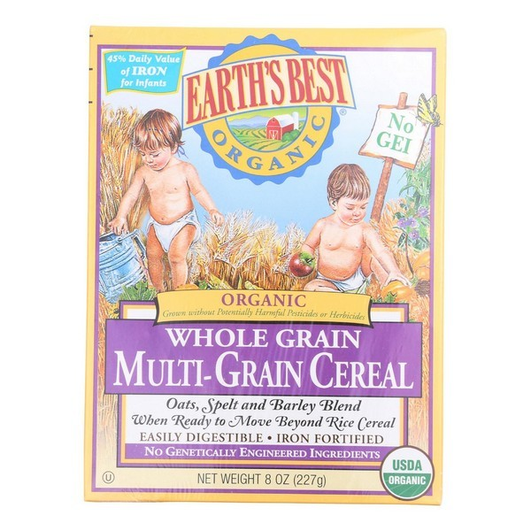 Earth's Best Organic Whole Grain Multi - Grain Infant Cereal - Pack of 12 - 8 Oz.