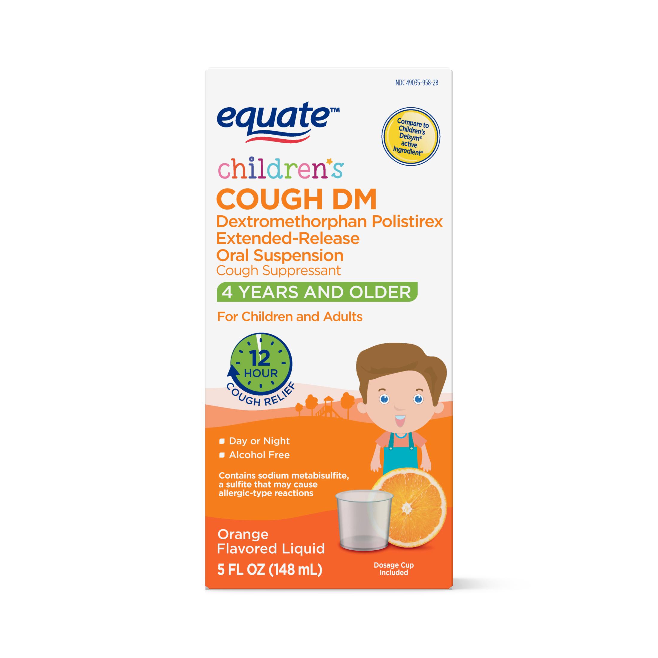 Equate Children's Cough DM, Orange Flavored, 5 Fluid Ounces