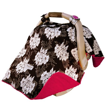 Carseat Canopy Baby Car Seat Cover Blanket With Minky Interior Lovely
