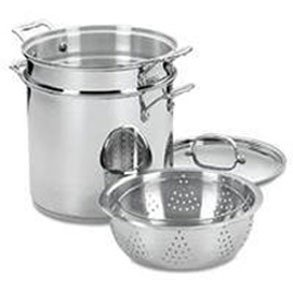 Cuisinart Chef's Classic Stainless Steel 4-Piece 12-Quart Pasta/Steamer Set (All Clad Pasta Pot)