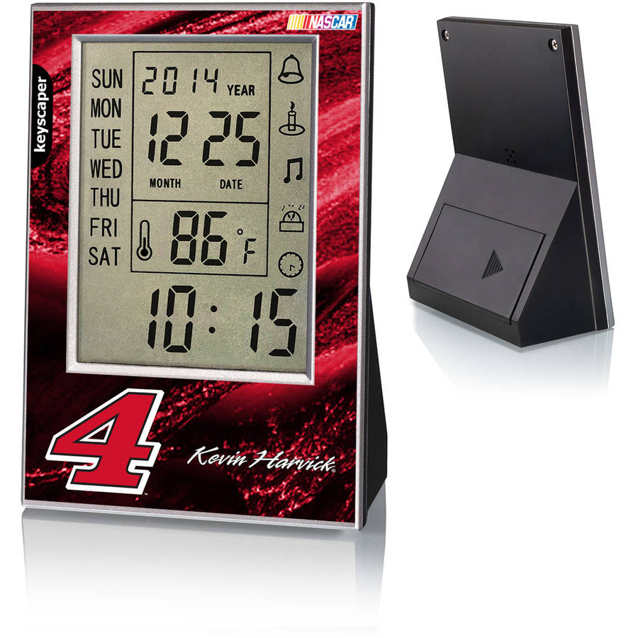 Kevin Harvick 4 Original Number Design Digital Clock by Keyscaper