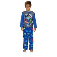 Entertainment One Boys PJ Masks Pajamas - 2-Piece Long Sleeve Pajama Set, Blue/Grey, Size: 8