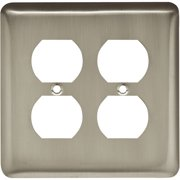Brainerd Rounded Corner Double Duplex Wall Plate, Available in Multiple Colors