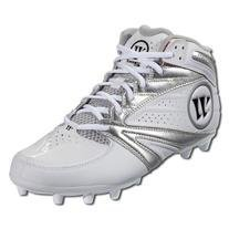 Warrior Second Degree 3.0 LaCrosse Cleat, White Silver, 8.5 D US by