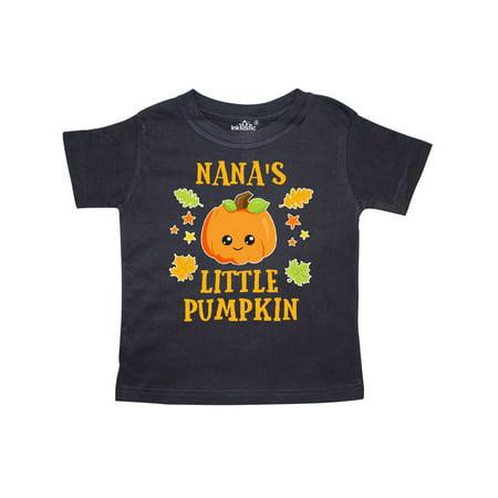 Pumpkin Stars (Nanas Little Pumpkin with Leaves and Stars Orange Text Toddler T-Shirt )