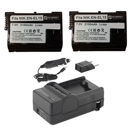 Nikon D7200 Digital Camera Accessory Kit includes: SDENEL15 Battery, SDM-1536 Charger
