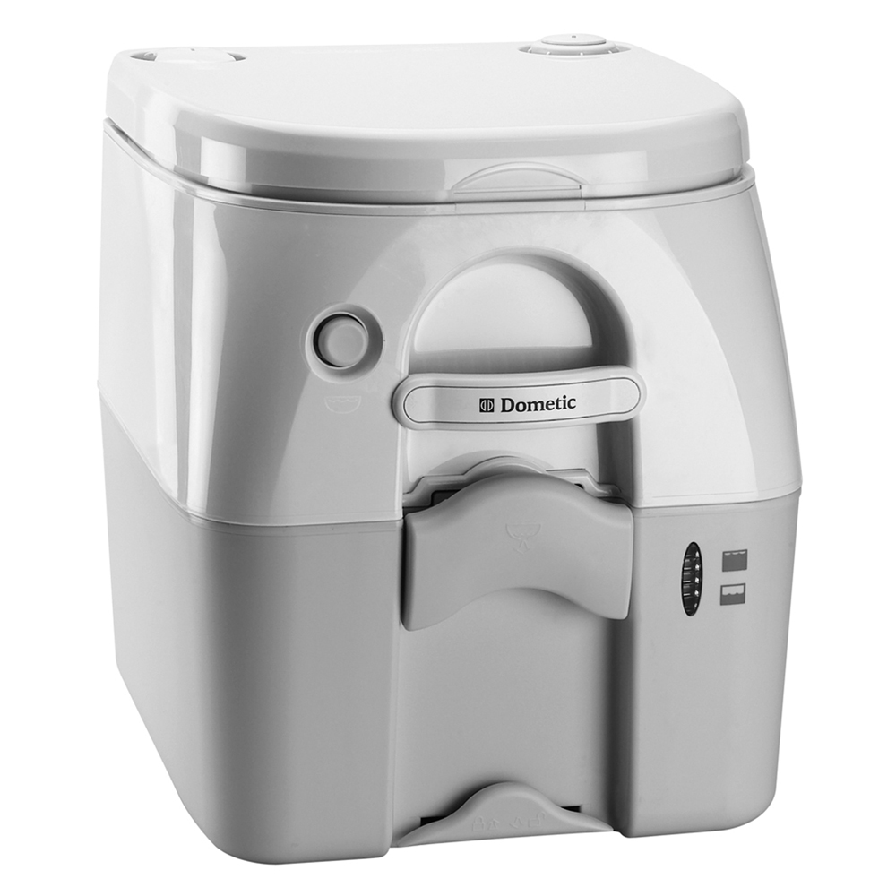 DOMETIC 975 PORTABLE TOILET 5.0 GAL GRAY W/ BRACKETS