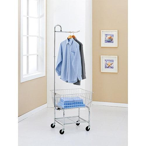 Neu Home Commercial Grade Chrome Laundry Cart