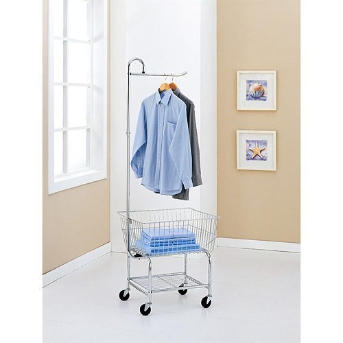 Neu Home Commercial Grade Chrome Laundry Cart