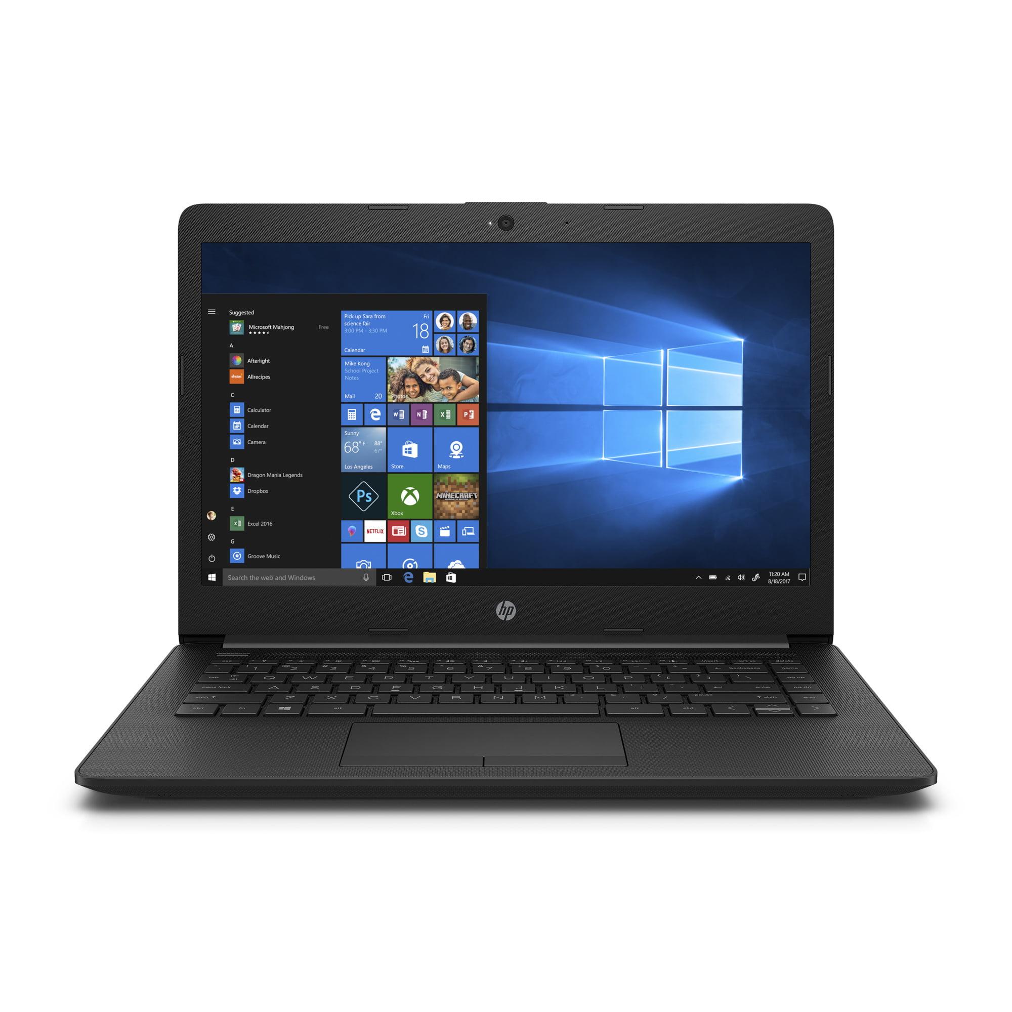 HP 14-CM0010NR Jet Black 14 inch Laptop, Windows 10, E2-9000e QC Processor, 4GB Memory, 500 GB Hard Drive, UMA Graphics, HD Audio