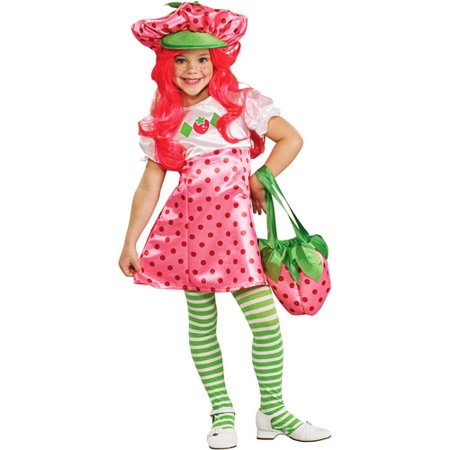 Strawberry Shortcake Deluxe Toddler Halloween Costume](Strawberry Costumes)