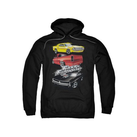 The Fast & The Furious Action Drive Muscle Car Splatter Adult Pull-Over Hoodie