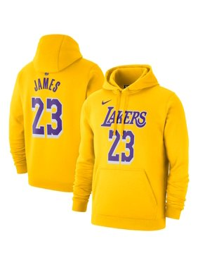 LeBron James Los Angeles Lakers Nike 2019/20 Name & Number Pullover Hoodie - Gold