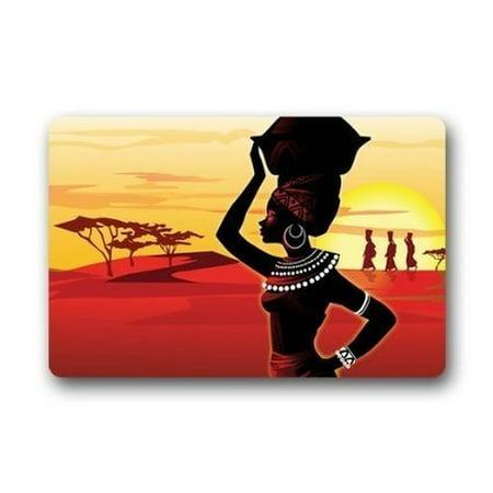 - WinHome Cartoon African Woman Doormat Floor Mats Rugs Outdoors/Indoor Doormat Size 30x18 inches