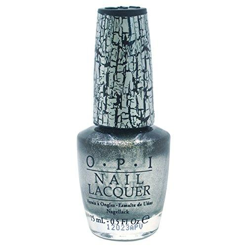 OPI Nail Polish Lacquer - Silver Shatter - NL E62, 0.5 Fluid Ounce