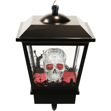 Marsh Farm Halloween (Haunted Hill Farm 18-In. Hanging Skull Halloween Lantern with Animation and Spooky Music,)