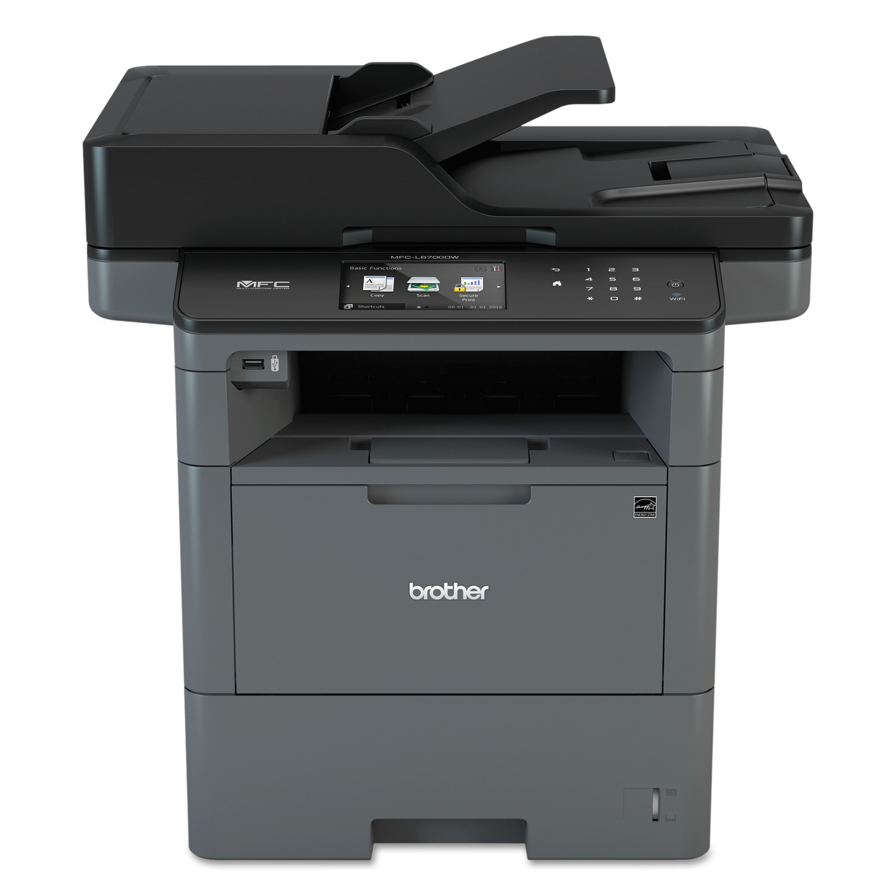 Brother MFC-L6700DW Wireless Monochrome All-in-One Laser Printer, Copy Fax Print Scan by Brother