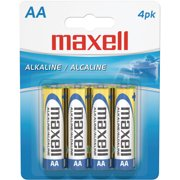 Maxell 723465 AA Alkaline Batteries, 4-Pack, Carded