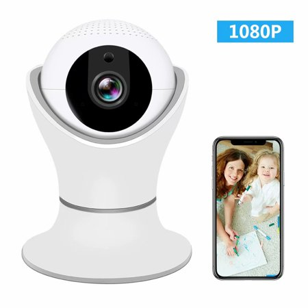ZMART HD 1080P 360 Home Wireless Security Dome IP Camera with 3D Navigation Panorama View Night Vision Two-Way Audio, Motion Detection, 2.4Ghz Indoor Surveillance for Home, Baby, Elder,