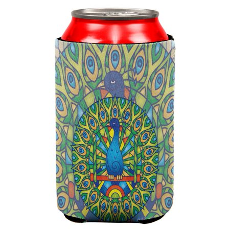 Stained Glass Mandalas (Mandala Trippy Stained Glass Peacock All Over Can Cooler )