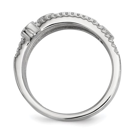 925 Sterling Silver Cubic Zirconia Cz Band Ring Size 6.00 Fine Jewelry Gifts For Women For Her - image 1 de 8