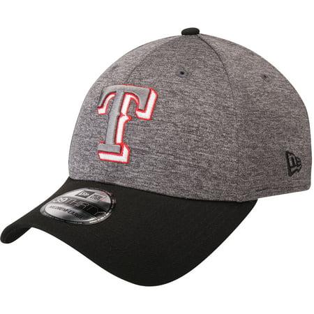 Texas Rangers New Era 39THIRTY Shadow Tech Color Pop Flex Hat - Heathered Gray/Black