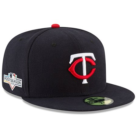 Minnesota Twins New Era 2019 Postseason Home Sidepatch 59FIFTY Fitted Hat - Navy Twins Hat Cap