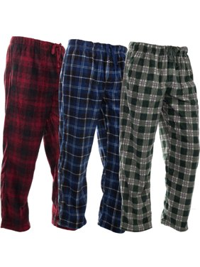 e6c69142c290 Product Image DG Hill (3 Pairs) Mens PJ Pajama Pants Bottoms Fleece Lounge  Pants Sleepwear Plaid