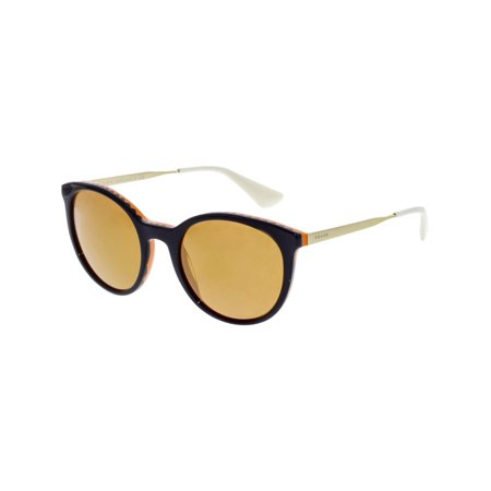 Prada Women's Mirrored Cinema PR17SS-VH56T0-53 Purple Round Sunglasses (Halloween Cinema Mirror)