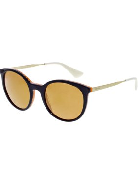 c16b5c8a334a7 Product Image Prada Women s Mirrored Cinema PR17SS-VH56T0-53 Purple Round  Sunglasses