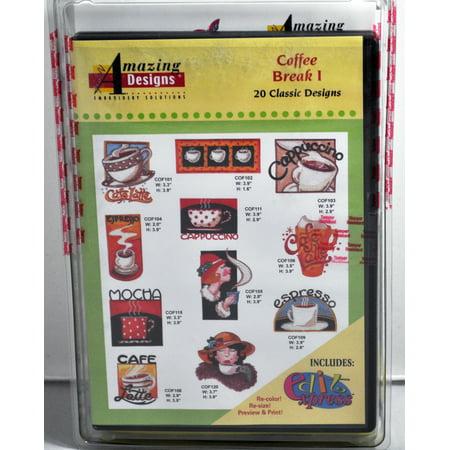 Amazing Designs Coffee Break I Embroidery CD, ADC-54TK - image 1 of 1