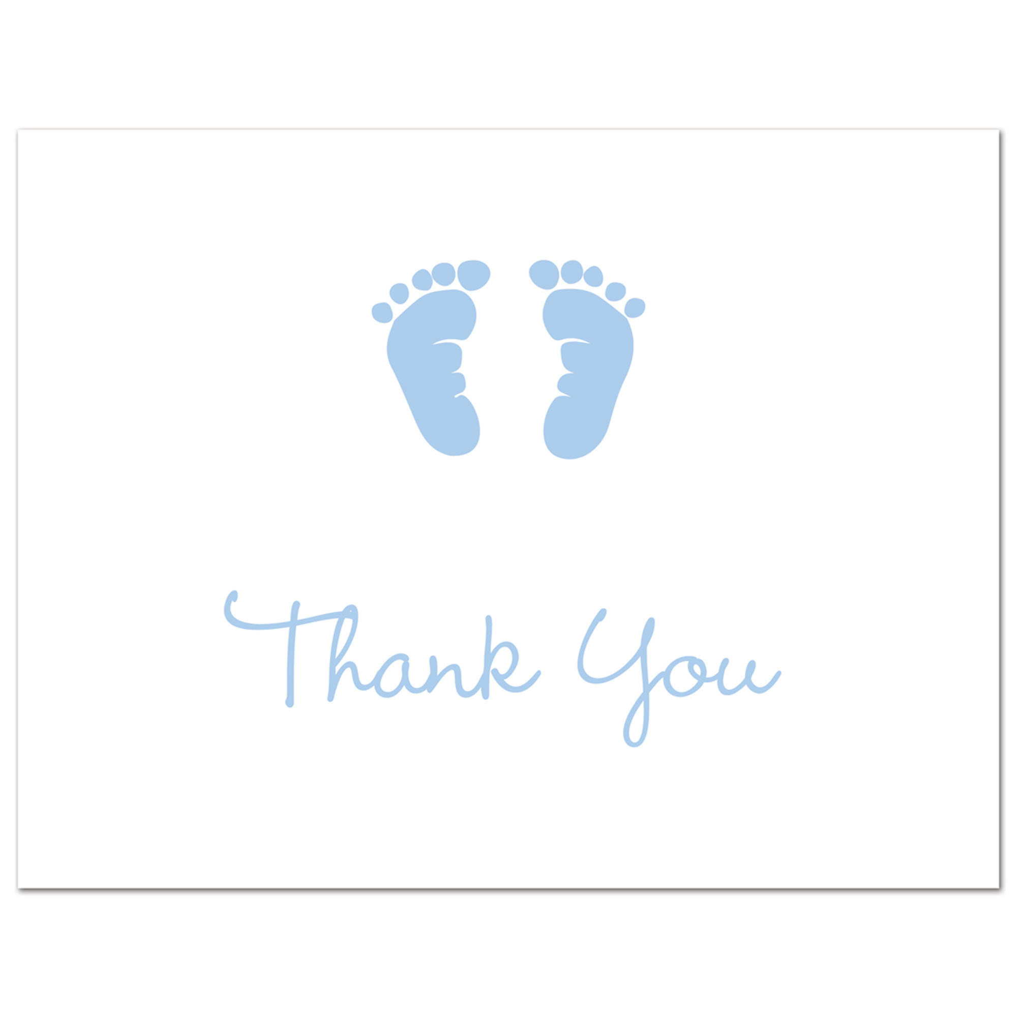 Baby Feet - Faux Gold Glitter - Baby Shower Folded Thank You Cards and  Envelopes - 50 count