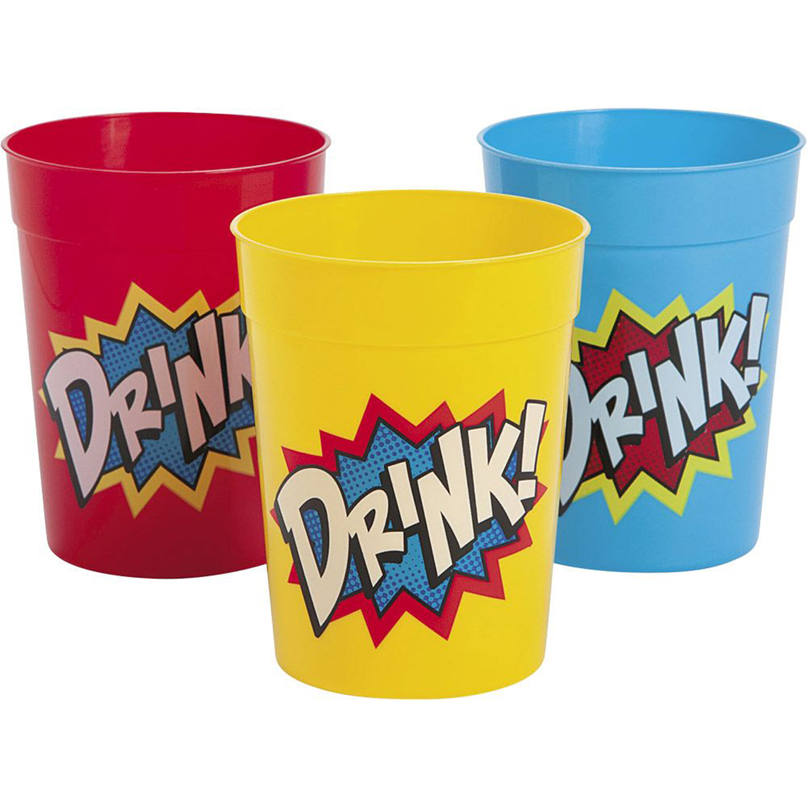 Superhero Comics Party Supplies 12 Pack Favor Cups