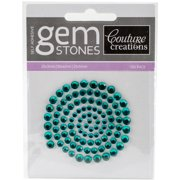 Couture Creations Self-Adhesive Gemstones 100/Pkg-Green Envy