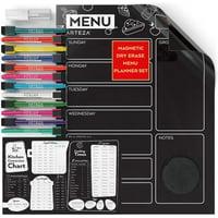 Arteza Magnetic Weekly Calendar Set, Dry Erase, Black