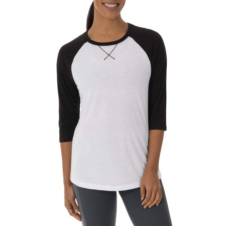 Athletic Works Women's Core Active Baseball T-Shirt for $<!---->