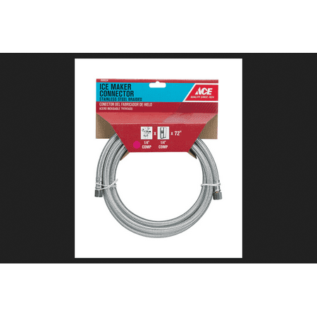 Ace 1/4 in. Compression x 1/4 in. Dia. Compression 72 in. Stainless Steel Ice Maker Supply Line (Ice Compression Machine)