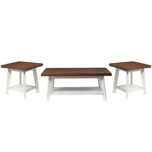 August Grove Funke 3 Piece Coffee Table Set Walmartcom