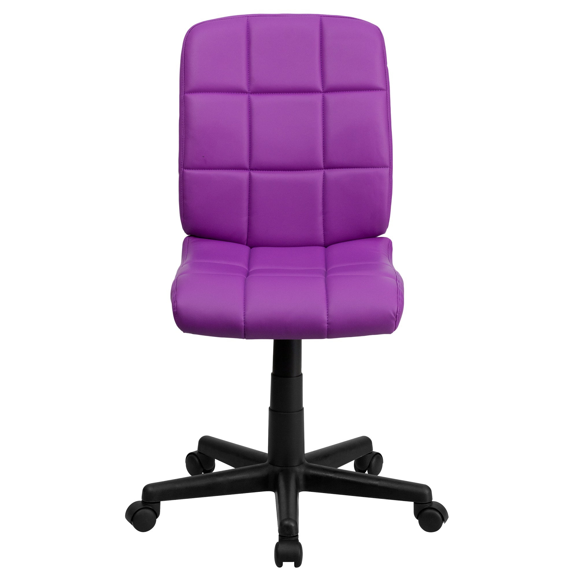 """38.75"""" Purple and Black Contemporary Mid Back Swivel Task ..."""