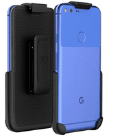 Belt Clip Holster for Google Pixel (By Encased) (case free design) Smooth Black